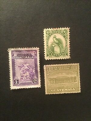 Very Old Guatemala Postage Stamp Set