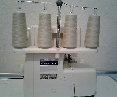 White Superlock Serger 834DW Electronic With Foot Pedal + Bag