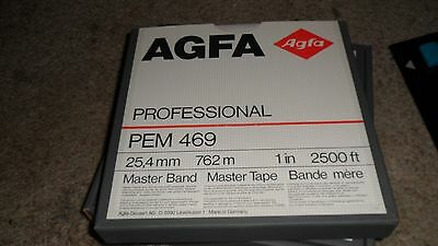 "AGFA Professional PEM 469 1"" Mastering  Tape 2500 ft with box on Reel"
