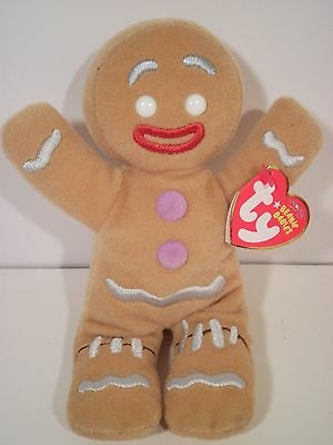 Ty Shrek The Halls Movie Gingy Plush Gingerbread Man Beanie Babies 2008 NWMT HTF