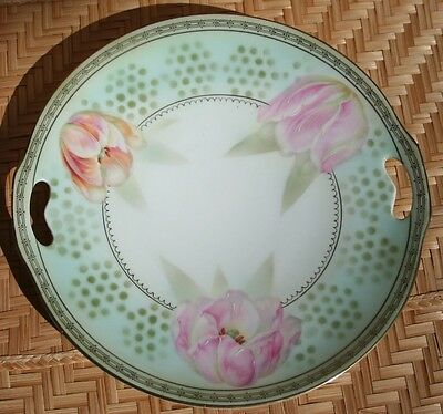 Prov. Sace. Hand Painted Cake Plate numbered 336/5813 made in Germany