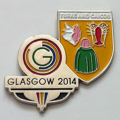 Glasgow 2014 Commonwealth Games Pin Badge - Turks And Caicos