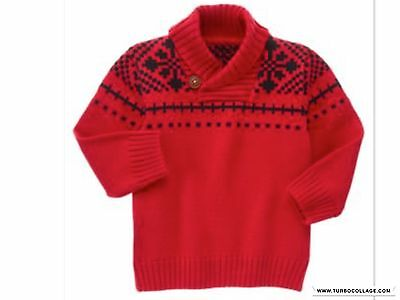 Gymboree Royal Red All Dressed Up Boys Pullover Sweater Nwt Xs (4)