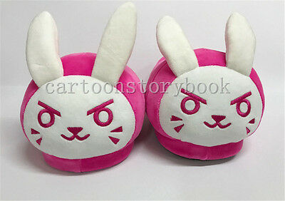 OW Overwatch Slippers DVA Genji Soldier Plush Shoes Indoor Warm Sandal Cosplay