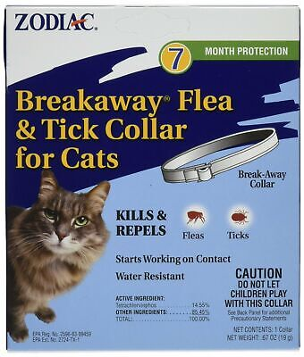 Zodiac Breakaway Flea & Tick Collar for Cats 7 month Protection