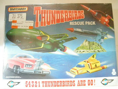 Matchbox 1993 Thunderbirds Rescue Pack. Nos: Rare 100% Manufacture Shrink Sealed
