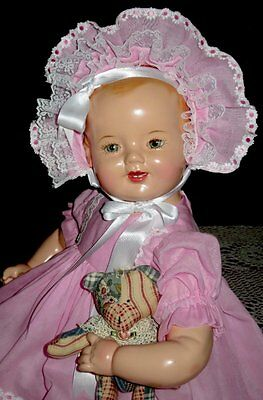 "RARE 23"" 1930s VINTAGE EIH HORSMAN/AVERILL GOLD MEDAL BABY COMPOSITION DOLL"