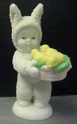 Dept 56 Snowbunnies A Basket of Joy Baby Chicks Easter Department Snowbabies