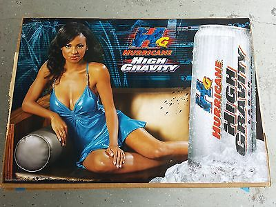 BRAND NEW Budweiser Hurricane Beer Hot Black Girl Model Poster