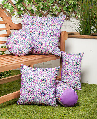 45cm Owl Water Resistant Canvas Outdoor Scatter Garden Furniture Filled Cushion Printed 18