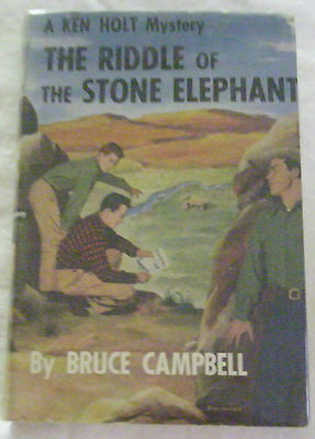 Ken Holt 02–The Riddle Of The Stone Elephant–Wrap-Spine Dustjacket/tan Hardcover