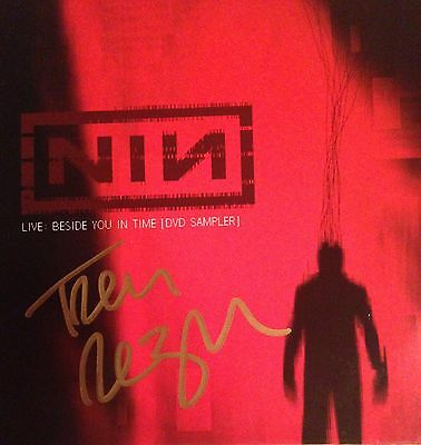 NIN DVD Live Beside You In Time Autographed by Trent Reznor