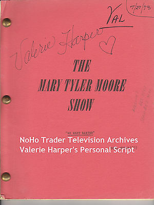 Valerie Harper Personal Script Signed Mary Tyler Moore Show We Want Baxter 1973