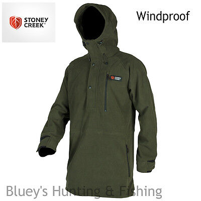 Stoney Creek Hunting Extra Long Bush Shirt Bayleaf Windproof Jacket ;1124