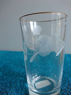 Royal Doulton Led Crystal Highball Glasses Country Rose Gold with Labels