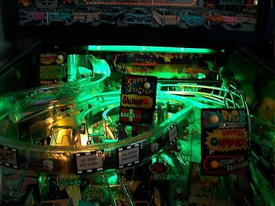 Creature From The Black Lagoon, Indiana Jones Pinball Playfield Light Mod GREEN