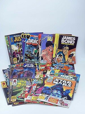 Lote Pack 60 Comic Forum/zinco Star Wars, James Bond, Drácula, Orion Star Brand.