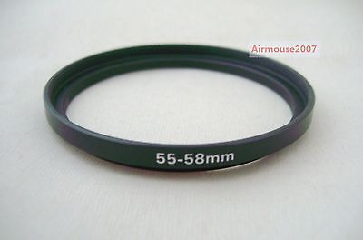 55-58 55mm-58mm Step Up Ring Adapter 55mm Lens To 58mm Accessory Filter Hood