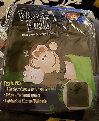 Blackout Buddy - Portable Blackout Blind / Curtain for Home and Travel (1 ONLY)