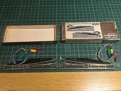marklin 8561 z gauge electric ponits - pair one each lh and rh turn