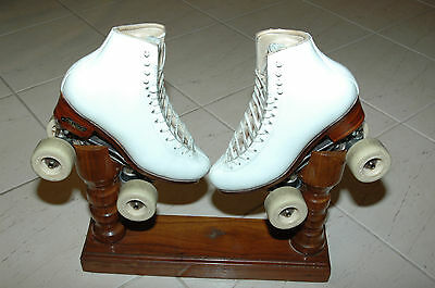 Harlick Roller Skates size 5 with Atlas Plates and Paioli Meccanica Spa Wheels