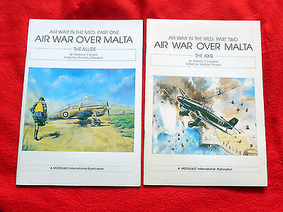 Air War Over Malta Part 1 The Allies & Part 2  The Axis WW2 These are Rare Books