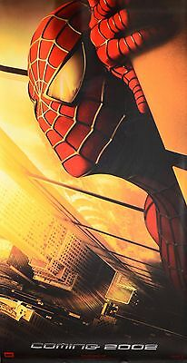 Spider-Man (2002, Tobey Maguire) Rare Cinema Banner with Twin Towers in Eyes