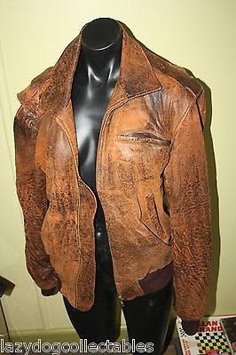 Vintage Men's Leather Jacket Brown Size Small  Made by FRANK Australia