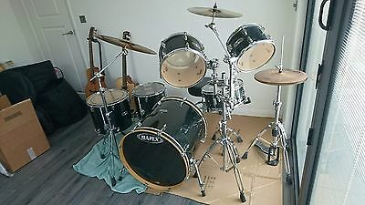 Mapex M Birch  Custom Drum Kit with extended bass drum.