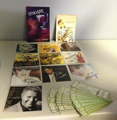 Lot of Jazz Memorabilia (Tickets & Autographed CD Covers) -Scullers Jazz Club