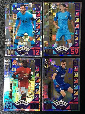 Match Attax 2016/2017 16/17 Hundred 100 Club All 4 Cards As Pictured