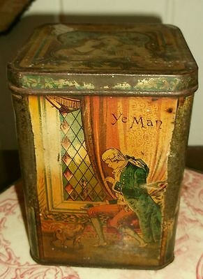 Antique Betrothal or Wedding Tin