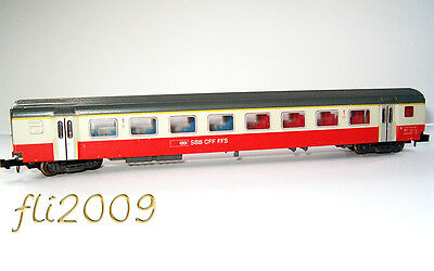* Minitrix scala N 13320 Carrozza Swiss Express 1 Cl. SBB OVP