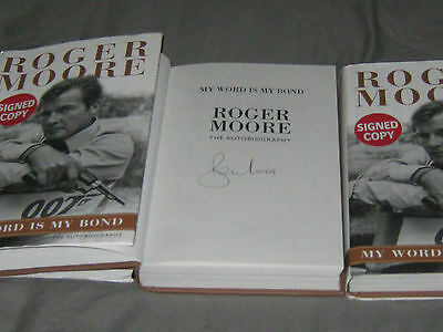 My Word is My Bond: The Autobiography SIGNED by sir roger moore james bond!
