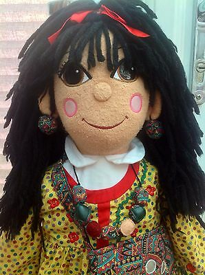 "Rosie & Jim Toy - 30"" Rosie Narrowboat Barge Canal Boat Beanie Rag Doll"