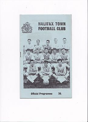 1962/63 HALIFAX v MILLWALL (SCARCE OFFICIAL PROGRAMME)