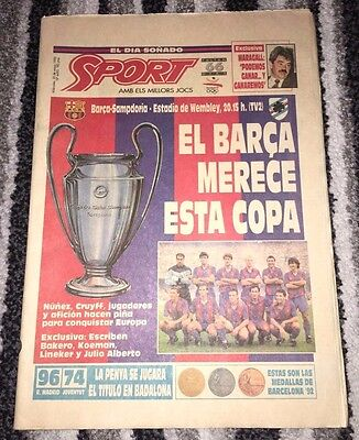 1992 EUROPEAN CUP FINAL Barcelona v Sampdoria *Barcelona SPORT Final Special Ed*