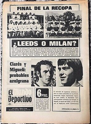 1973 ECWC FINAL AC Milan v Leeds United (Mundo Deportivo Issue)