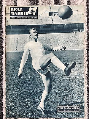 1957 Real Madrid Revista November 1957 Wolves Friendly Ec Royal Antwerp Belgium