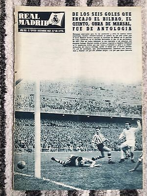 1957 Real Madrid Revista December 1957 European Cup Royal Antwerp Belgium