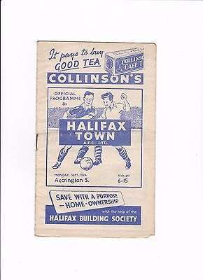 1952/53 HALIFAX TOWN v ACCRINGTON STANLEY (DIVISION 3 NORTH)
