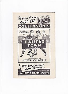 1952/53 HALIFAX TOWN v TOTTENHAM HOTSPURS / SPURS - (FA CUP 5th ROUND)