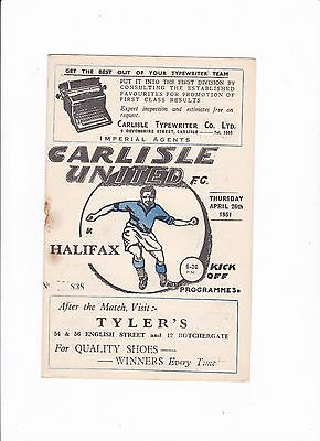 1950/51 Carlisle United v Halifax Town (Division 3 North)