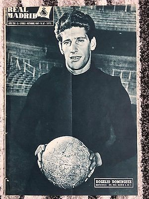 1957 Real Madrid Revista October 1957 European Cup Royal Antwerp Belgium