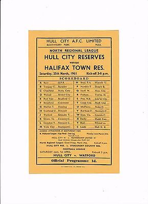 1960/61 HULL CITY v HALIFAX TOWN (North Regional League)