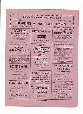 1953/54 DONCASTER ROVERS v HALIFAX (Midland League)