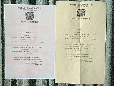 1966 WORLD CUP FINAL ENGLAND v WEST GERMANY (PRESS TEAMSHEET SINGLE SHEET *COPY)