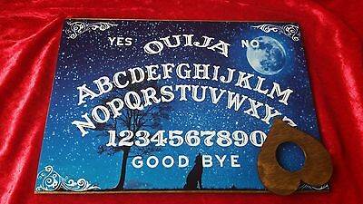 Ouija Board The Howling Wolf & Planchette ghost hunt A4 MDF Instructions Witch