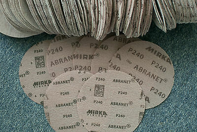 Mirka abranet 150mm 50 pcs p240  sanding discs no box