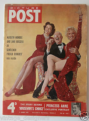 Marilyn Monroe 1953 Picture Post Magazine Jane Russell Rare UK 15 August 1953